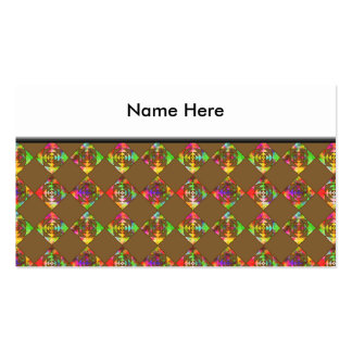 Rainbow Color Flowers. Pattern on Brown. Pack Of Standard Business Cards