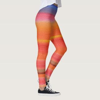Rainbow Color Gradient Stripes, Marie Stephens Art Leggings