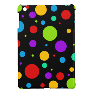 Rainbow Color Polka Dots iPad Mini Case