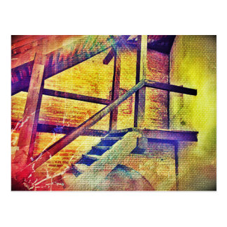 Rainbow Color Stairs Postcard