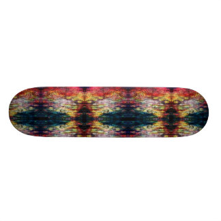 Rainbow Color Wood-print Skateboard