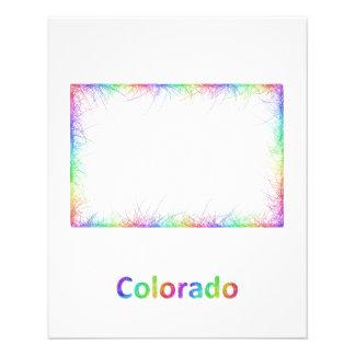 Rainbow Colorado map 11.5 Cm X 14 Cm Flyer