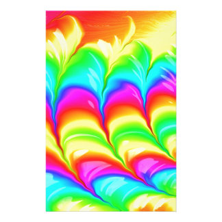 Rainbow colored 3D abstract pattern Personalised Stationery