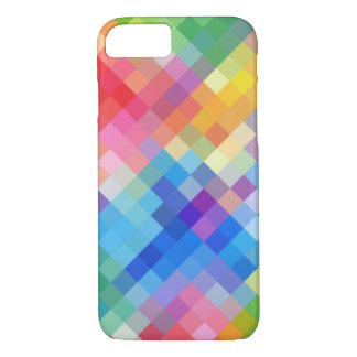 Rainbow Colored Abstract Mosaic Squares Pattern iPhone 8/7 Case