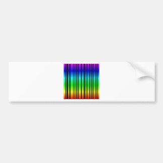 Rainbow colored bar code bumper sticker