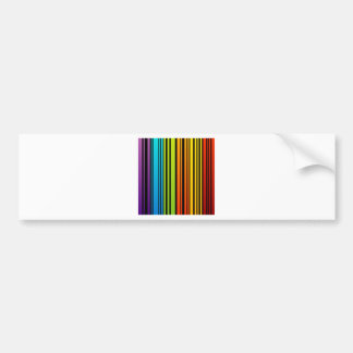Rainbow colored bar code bumper stickers