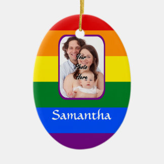Rainbow colored christmas ornament