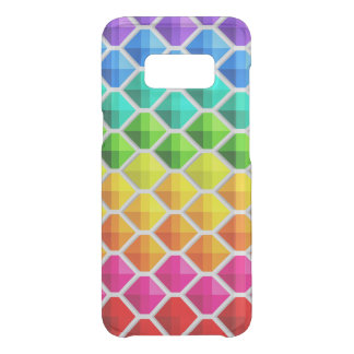 Rainbow Colored Diamonds Pattern Uncommon Samsung Galaxy S8 Case