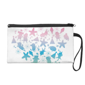 Rainbow Colored Dogs and Stars Wristlet