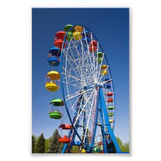 Rainbow Colored Ferris Wheel Photo Print