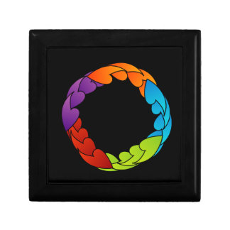 Rainbow colored floral design element keepsake boxes