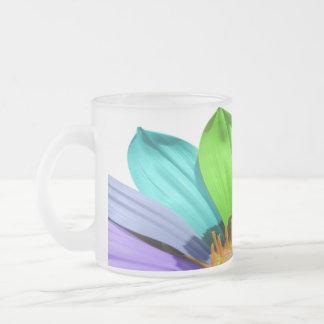 Rainbow colored flower coffee mug
