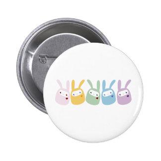 Rainbow Colored Gumdrop Bunnies 6 Cm Round Badge