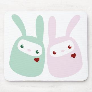 Rainbow Colored Gumdrop Bunnies Mouse Pad