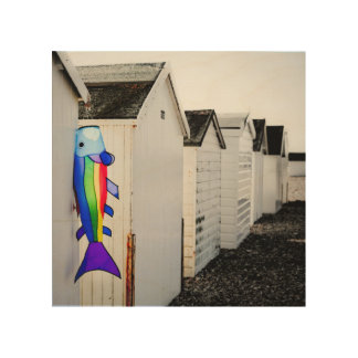 Rainbow Colored Kite Wood Wall Art