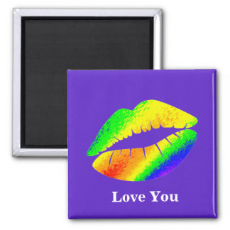 Rainbow Colored Lips Magnet