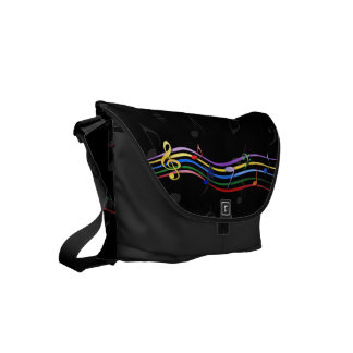 Rainbow Colored Music Notes Commuter Bag