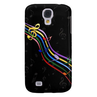 Rainbow Colored Music Notes Galaxy 3 Galaxy S4 Case