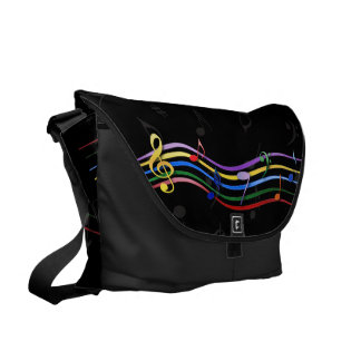 Rainbow Colored Music Notes Commuter Bags