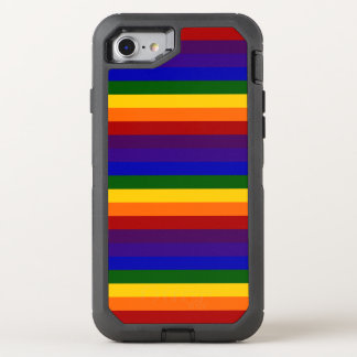 Rainbow Colored Stripes OtterBox Defender iPhone 7 Case