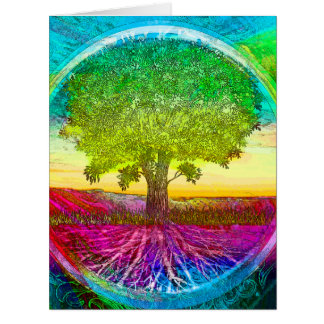 Rainbow Colored Tree of Life Cards