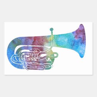 Rainbow Colored Tuba Stickers