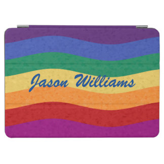 Rainbow Colored Wavy Lines iPad Air Cover