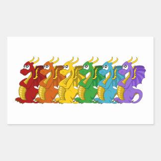 Rainbow colorful dragons cartoon Stickers