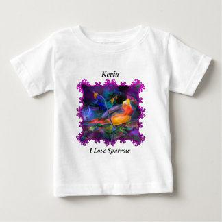 Rainbow colorful sparrow baby T-Shirt