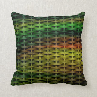 Rainbow colorful wicker graphic design throw cushions