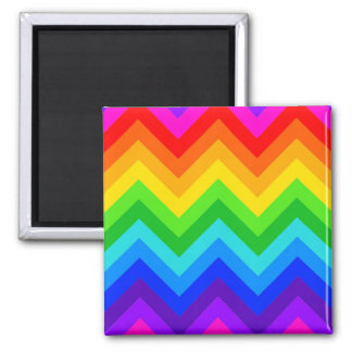 Rainbow Colors #2 Large Chevron ZigZag Pattern Fridge Magnets