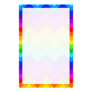 Rainbow Colors #2 Large Chevron ZigZag Pattern Stationery