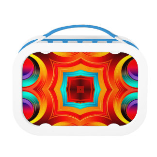 Rainbow Colors Abstract Pattern Lunch Box