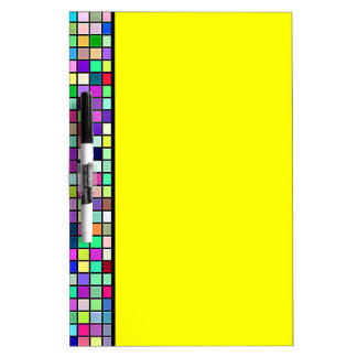 Rainbow Colors And Pastels Square Tiles Pattern Dry-Erase Board
