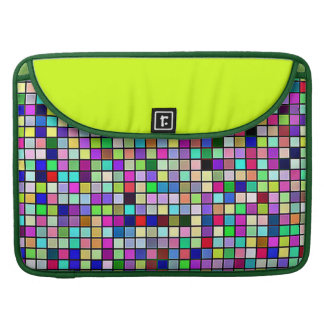 Rainbow Colors And Pastels Square Tiles Pattern MacBook Pro Sleeve