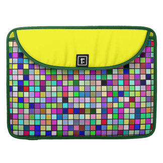 Rainbow Colors And Pastels Square Tiles Pattern Sleeve For MacBooks