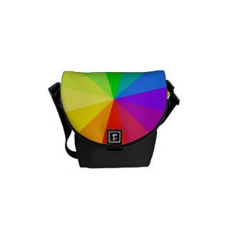 Rainbow Colors Art Courier Bags