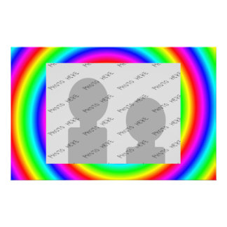 Rainbow Colors. Bright and Colorful. Custom Photo. Personalized Flyer