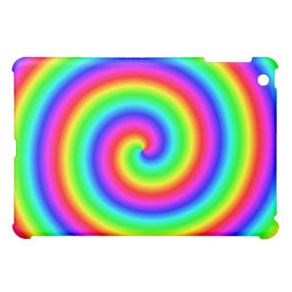 Rainbow Colors. Bright and Colorful Spiral. iPad Mini Case