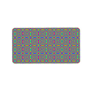 Rainbow Colors. Bright and Colorful Spirals. Label