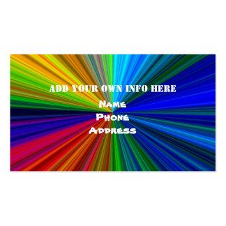 Rainbow colors business card