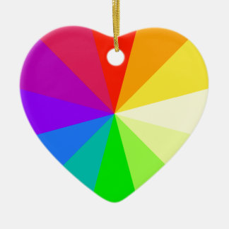 Rainbow Colors Christmas Ornament