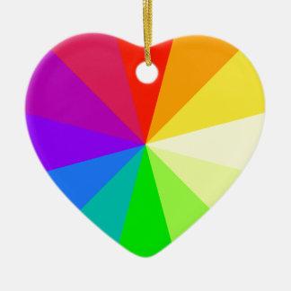 Rainbow Colors Christmas Ornament