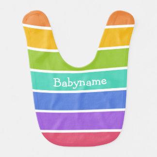 Rainbow Colors custom baby bib