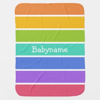 Rainbow Colors custom baby blanket