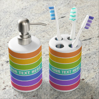 Rainbow Colors custom bathroom set