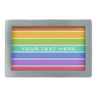Rainbow Colors custom belt buckle
