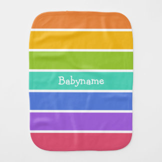 Rainbow Colors custom burp cloth