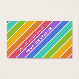 Rainbow Colors custom business cards