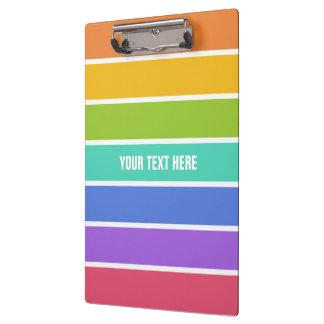 Rainbow Colors custom clipboard
